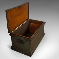 Antique Workman's Trunk, English, Pine, Carriage Chest, Victorian c.1880 (6 of 11)