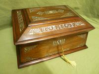 Large Inlaid Rosewood Jewellery / Table Box c.1835 (2 of 12)