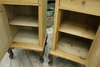Beautiful & Unusual Old Pine Bedside Cabinets / Cupboards - We Deliver! (5 of 10)