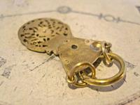 Georgian Pocket Watch Chain Fob 1830s Antique Large Brass Verge Balance Cock Fob (9 of 9)