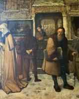 Substantial 19th Century Flemish Oil Painting of Locals in Brugge by Dumont (5 of 21)