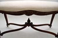 Antique French Carved Walnut Stool / Window Seat (6 of 8)
