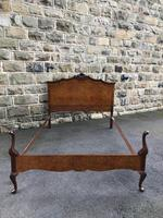 Antique Burr Walnut Double Bed (2 of 9)