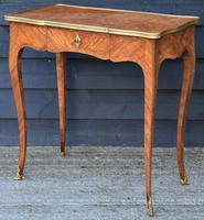 Exceptional Quality 19th Century French Kingwood Writing Table/ Lamp Table/ Centre Table. (4 of 15)