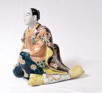 Japanese Kutani Porcelain Statue Male Figurine 1890 (4 of 9)