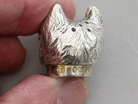 Victorian Novelty Silver Begging Dog Pepper by Thomas Johnson, London, 1878 (15 of 15)
