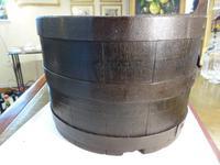 "Interesting ""Scottish Kiver"" Coopered Ash Barrel c.1850 (4 of 5)"