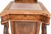 Victorian Davenport Desk Walnut Inlay c.1860 (9 of 14)