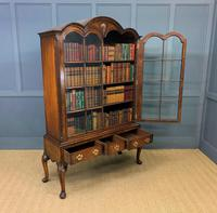 Burr Walnut Dome Topped Bookcase (14 of 18)