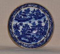 Worcester Porcelain Teabowl and Saucer 'Bandstand' Pattern 1780-90 (2 of 12)