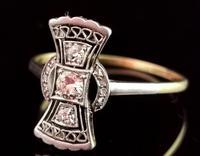 Vintage Art Deco Diamond Filigree Ring, 18ct Gold & Platinum (14 of 14)