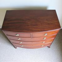 Mahogany Bow Front Chest of Drawers (4 of 7)