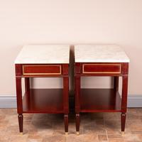 Pair of French Marble Topped Tables (7 of 14)