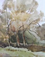 Watercolour Autumn in Wiltshire by Ronald Birch (2 of 10)