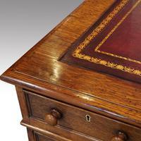 Victorian Oak Partners Desk (4 of 12)