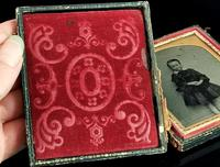Victorian Cased Ambrotype Photograph, Boy in a Dress (4 of 7)