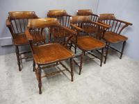 Set of 6 Red Walnut Captain's Chairs by W. Walker & Son (10 of 11)