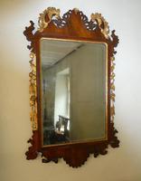 English 18th Century Mahogany & Gilt Mirror (9 of 9)