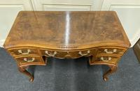 Pretty Quality Burr Walnut Dressing Table (3 of 17)