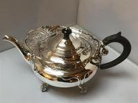 Solid Silver Edwardian Tea Set (5 of 9)