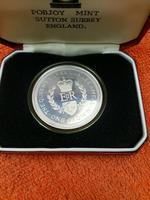 1977 Isle of Man One Crown Sterling Silver Proof Coins - Silver Jubilee - , Cased (2 of 6)