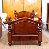 Bed Frame Edwardian Carved Mahogany Barley Twist (4 of 11)
