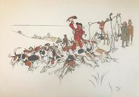 6 Original Chromolithograph Prints of Hunting Scenes by Cecil Aldin 1870-1935. Signed or Initialled & Dated 1900 (2 of 6)