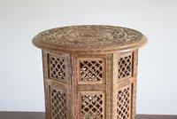 Anglo Indian Table with Circular Carved Top (3 of 10)