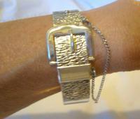 """Vintage Sterling Silver Bangle 1978 Large Buckle Bracelet 7"""" Length 28.5 Grams (2 of 11)"""