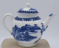Caughley Fisherman & Cormorant Pattern Teapot (2 of 6)