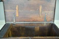 Antique Rustic Dark Oak Chest (5 of 10)