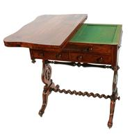 Rosewood Turn Over Top Writing Table (4 of 9)