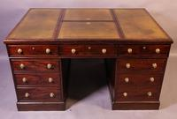 Rare Early 19th Century Partners Desk Mahogany