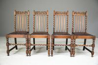 4 Oak Dining Chairs