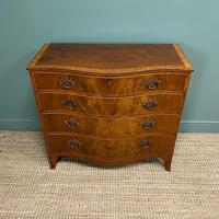 Stunning Georgian Mahogany Antique Serpentine Front Chest of Drawers (8 of 10)