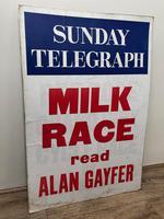 Vintage Advertising Poster Sunday Telegraph Milk Race c.1967 (3 of 23)