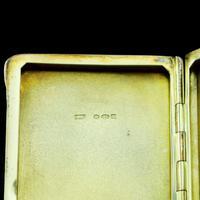 English Solid Silver Enamel Cigarette Case with Landscape Scene - A.J.P London 1927 (10 of 14)