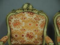 Pair of Italian Carved and Painted Armchairs (10 of 16)