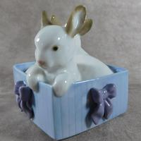 """Conejitos De Regalo"" or ""Bunny Suprise"" Hand Modelled Figurine by Nao (3 of 8)"