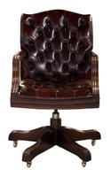 Leather Upholstered Mahogany Desk Chair (9 of 9)