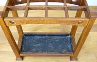 Excellent Arts & Crafts Oak Stick Stand c.1910 (6 of 11)