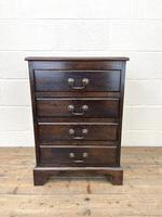 Early 20th Century Oak Four Drawer Chest (2 of 7)