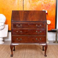 Edwardian Mahogany Bureau Writing Desk (3 of 9)