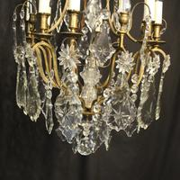 French Gilded 8 Light Antique Chandelier (4 of 5)
