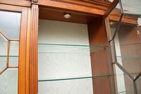 Antique Burr Walnut Breakfront Bookcase / Display Cabinet (9 of 10)