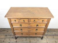 Antique Oak Geometric Chest of Drawers (3 of 9)