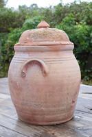 Large Earthenware Lidded Storage Jar (4 of 10)
