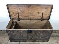 Antique Carved Oak Coffer or Blanket Box (7 of 11)