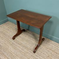 Victorian Mahogany Antique Stretcher Table / Sofa Table (2 of 4)