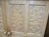 Small Carved Oak Linenpress (2 of 5)